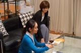 NHK・BSプレミアムのドラマ『はぶらし/女友だち』第2話より。鈴音(右/内田有紀)のマンションに居座ってしまう水絵(左/池脇千鶴)(C)NHK