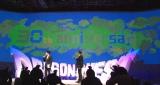 『ドラゴンクエスト』30周年発表会ではドラクエマップが映しだされた (C)ORICON NewS inc.