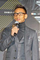 『日本酒セラー開発プロジェクト』記者発表会に登場した元サッカー日本代表の中田英寿氏