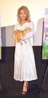 映画『シーズンズ 2万年の地球旅行』の公開記念舞台あいさつに出席したクリスタル・ケイ (C)ORICON NewS inc.
