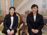 (左から)吉田沙保里選手、登坂絵莉選手(C)テレビ朝日