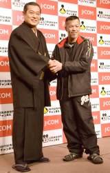 『J:COM「時代劇専門チャンネル」「日本映画専門チャンネル」』共同記者会見に出席した(左から)松平健、辰吉丈一郎 (C)ORICON NewS inc.