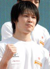 『体操世界選手権2014』日本代表壮行会に登壇した内村航平選手 (C)ORICON NewS inc.