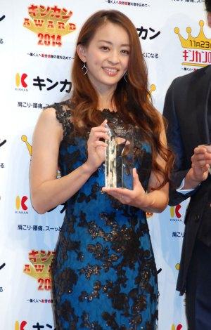 『キンカン AWARD 2014』授賞式に出席した田中理恵 (C)ORICON NewS inc.