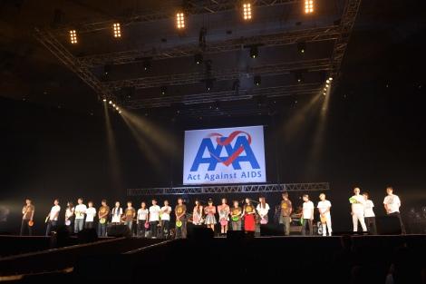 イベントのエンディング=エイズ啓発チャリティーイベント『Act Against AIDS 2015「THE VARIETY 23」』