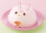 ひな祭り用のとってもかわいいドーム型のうさぎのケーキ