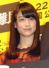 映画『東京難民』完成披露舞台あいさつに登壇した山本美月 (C)ORICON NewS inc.