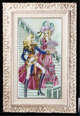 サムネイル キラキラ! 池田理代子氏の代表作『ベルサイユのばら』が「ジュエリー絵画」に