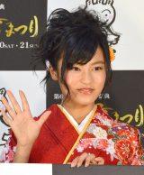 『第67回十日町雪まつり周知キャンペーン』記者発表会に出席した小島瑠璃子