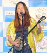 島唄を披露した元ちとせ=『奄美大島DMO事業構想発表会』 (C)ORICON NewS inc.