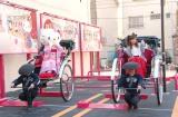 人力車の乗って登場したハローキティ&辻希美 (C)ORICON NewS inc.