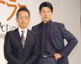 舞台『ライ王のテラス』製作発表会に出席した(左から)宮本亜門、鈴木亮平 (C)ORICON NewS inc.