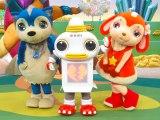 「ガラピコぷ〜」のメインキャラ(左から)ムームー、ガラピコ、チョロミー (C)ORICON NewS inc.