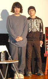 ドキュメンタリー映画『お母さん、いい加減あなたの顔は忘れてしまいました』公開記念トークショーに登壇した(左から)銀杏BOYZ・峯田和伸、遠藤ミチロウ監督 (C)ORICON NewS inc.