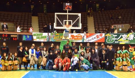 プロバスケットボールリーグ『NBL』のトヨタ自動車アルバルク東京VSレバンガ北海道のイベントの模様 (C)ORICON NewS inc.