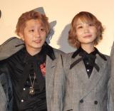 映画『TOKYO FANTASY SEKAI NO OWARI』先行イベント上映舞台あいさつに出席した(左から)Fukase、Saori (C)ORICON NewS inc.