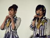 「ネタバレしないでね」とお願いするNMB48の渡辺美優紀、山本彩(左から) (C)ORICON NewS inc.
