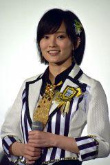 ドキュメンタリー映画『道頓堀よ、泣かせてくれ! DOCUMENTARY of NMB48』舞台あいさつに登壇した山本彩 (C)ORICON NewS inc.