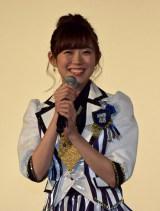 ドキュメンタリー映画『道頓堀よ、泣かせてくれ! DOCUMENTARY of NMB48』舞台あいさつに登壇したNMB48渡辺美優紀 (C)ORICON NewS inc.