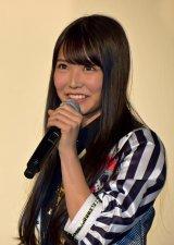 ドキュメンタリー映画『道頓堀よ、泣かせてくれ! DOCUMENTARY of NMB48』舞台あいさつに登壇したNMB48白間美瑠 (C)ORICON NewS inc.