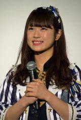 ドキュメンタリー映画『道頓堀よ、泣かせてくれ! DOCUMENTARY of NMB48』舞台あいさつに登壇したNMB48渋谷凪咲 (C)ORICON NewS inc.