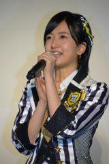 ドキュメンタリー映画『道頓堀よ、泣かせてくれ! DOCUMENTARY of NMB48』舞台あいさつに登壇したNMB48須藤凜々花 (C)ORICON NewS inc.