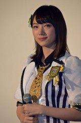 ドキュメンタリー映画『道頓堀よ、泣かせてくれ! DOCUMENTARY of NMB48』舞台あいさつに登壇したNMB48太田夢莉 (C)ORICON NewS inc.