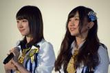 ドキュメンタリー映画『道頓堀よ、泣かせてくれ! DOCUMENTARY of NMB48』舞台あいさつに登壇した(左から)NMB48太田夢莉、薮下柊 (C)ORICON NewS inc.