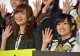 (左から)HKT48指原莉乃、NMB48山本彩 (C)ORICON NewS inc.
