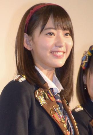 映画『尾崎支配人が泣いた夜 DOCUMENTARY of HKT48』初日舞台あいさつに登壇した宮脇咲良 (C)ORICON NewS inc.