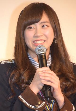映画『尾崎支配人が泣いた夜 DOCUMENTARY of HKT48』初日舞台あいさつに登壇した坂口理子 (C)ORICON NewS inc.