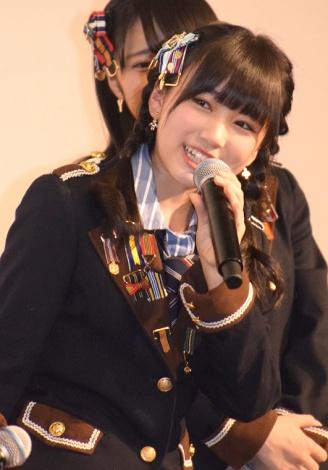 映画『尾崎支配人が泣いた夜 DOCUMENTARY of HKT48』初日舞台あいさつに登壇した矢吹奈子 (C)ORICON NewS inc.