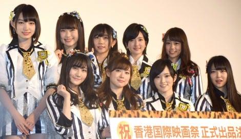 初のドキュメンタリー映画『道頓堀よ、泣かせてくれ! DOCUMENTARY of NMB48』初日舞台あいさつに出席したNMB48 (C)ORICON NewS inc.