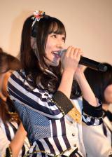 矢倉楓子=NMB48ドキュメンタリー映画『道頓堀よ、泣かせてくれ! DOCUMENTARY of NMB48』初日舞台あいさつ (C)ORICON NewS inc.