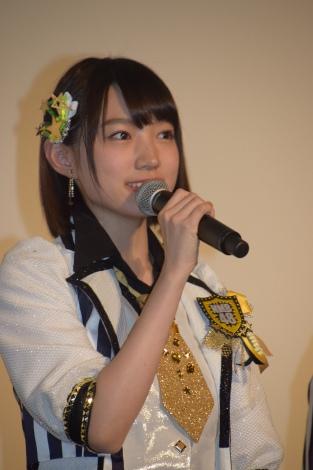 太田夢莉=NMB48ドキュメンタリー映画『道頓堀よ、泣かせてくれ! DOCUMENTARY of NMB48』初日舞台あいさつ (C)ORICON NewS inc.