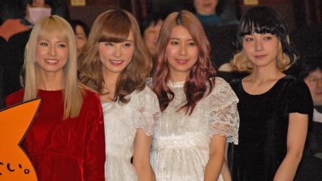 主題歌を担当したSCANDAL(左から)HARUKA、RINA、TOMOMI、MAMI