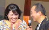 松坂慶子(右)がキュンとするセリフ「ONLY YOU」を披露した小日向文世=テレビ朝日のドラマ『スミカスミレ 45歳若返った女』制作発表会見 (C)ORICON NewS inc.