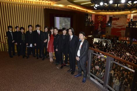 映画『ライチ☆光クラブ』の舞台あいさつに登壇した出演者たち
