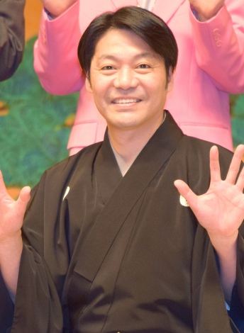 『現代狂言X 〜狂言とコントが結婚したら〜』記者会見に出席した野村万蔵 (C)ORICON NewS inc.