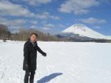 噴火の可能性が指摘される富士山へ(C)日本テレビ