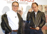 映画『ブラック・スキャンダル』のイベントに出席したトレンディエンジェル(左から)たかし、斎藤司 (C)ORICON NewS inc.