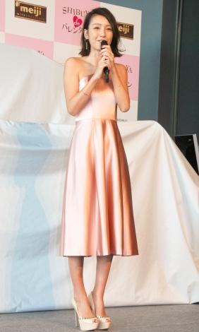 産後3ヶ月で…スラリ体型に戻った木下優樹菜=『SHIBUYA de バレンタイン』開催記者発表会 (C)ORICON NewS inc.