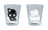 ももいろクローバーZ展覧会 会場限定販売グラス(左=フロント、右=バック)