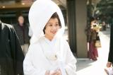 挙式で白無垢姿を披露した長崎アナ