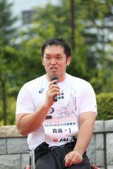 『未来への道 1000km縦断リレー2015』ゲストランナーの藤本怜央氏(車椅子バスケットボール選手)