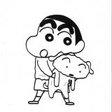 原作者・臼井儀人さんの貴重な原画を展示(C)臼井儀人/双葉社
