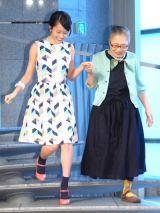 映画『モヒカン故郷に帰る』ヒット祈願イベントに出席した(左から)前田敦子、もたいまさこ (C)ORICON NewS inc.