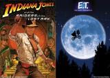 (左から)映画『レイダース/失われたアーク《聖櫃》』、『E.T』のポスター
