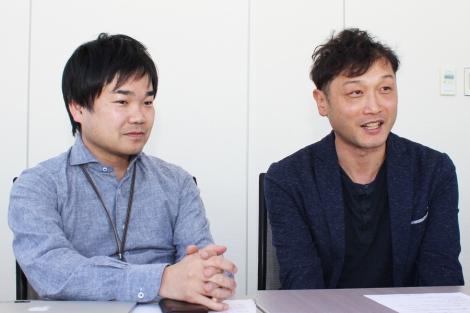 日本テレビ放送網インターネット事業局の加藤友規氏と山崎大介氏(右)