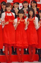 全身ショット(左から)松井愛莉、土屋太鳳、広瀬すず (C)ORICON NewS inc.